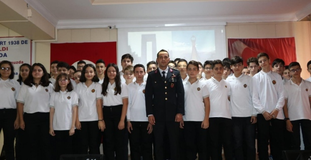 Jandarma komutanlığı tarafından konferans