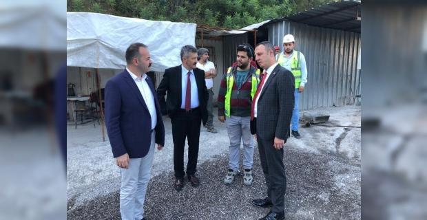 AK Partililer, Mithatpaşa tünelini yerinde incelediler...