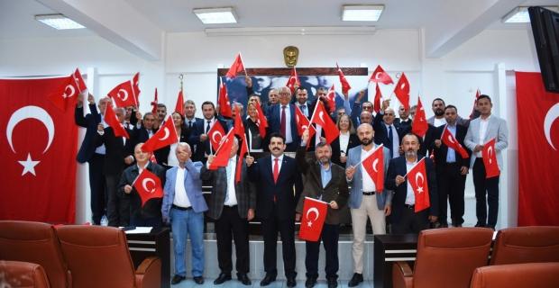 Ereğli Belediye Meclisi Pınar Harekatı'na destek verdi...