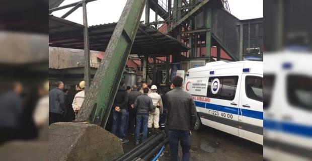 Üzerine kömür parçası düşen maden işçisi yaralandı
