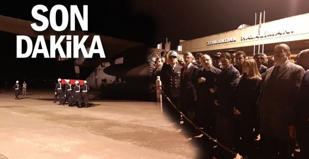 Bartınlı şehidin naaşı uçakla Zonguldak'a getirildi