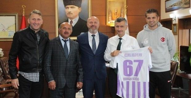 Ereğli Belediyespor'dan Vali Bektaş'a ziyaret