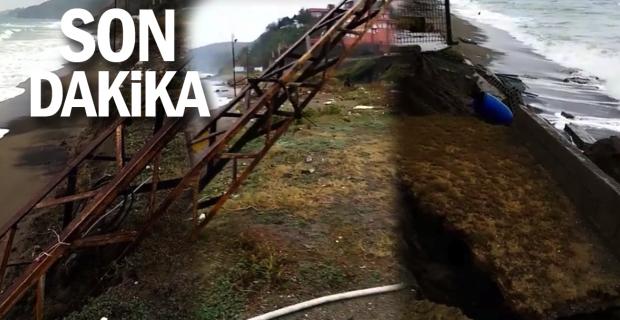 Karadeniz Türkali sahilini yıktı geçti!..