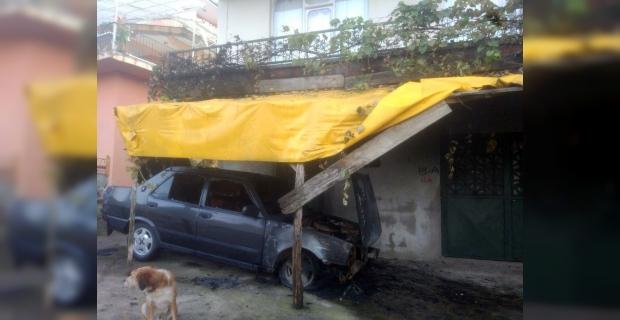 Komşusunun aracını kundakladı, gözaltına alındı