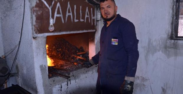 Kuruluş Osman dizisi kılıç ve baltaları Zonguldak'ta hazırlanıyor