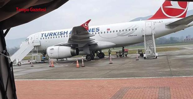 Lastik Arızası giderilmedi, uçuş iptal edildi...