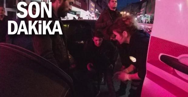 Motosiklete çarpıp kaçan sürücüyü polis yakaladı