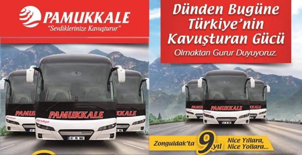 Pamukkale Turizm 9. Yılını kutluyor