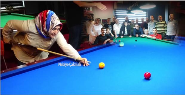 Zonguldak Bilardo sporunda bir ilk... Nebiye Çakmak Antrenör oldu…