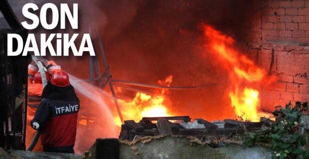 Acılık'ta Yangın: Olay yerinden fotoğraflar