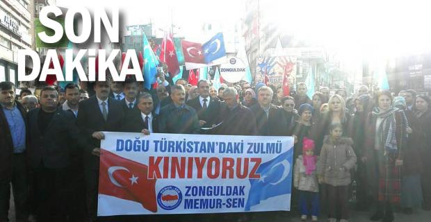 Doğu Türkistan'da yaşanan zulme dur diyerek kınadılar