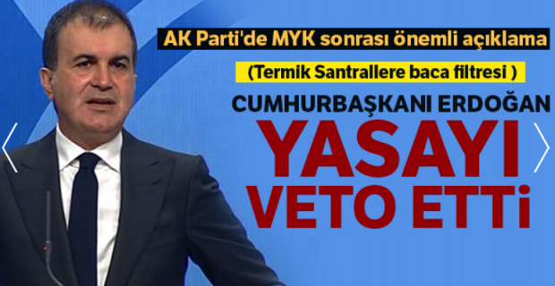 'Erdoğan, termik santrallere filtre takılmasını erteleyen düzenlemeyi veto etti'