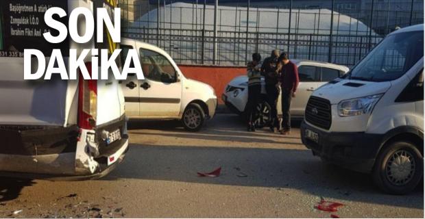 Öğrenci servisi kaza yaptı!..