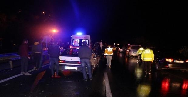 Zonguldak 5 otomobil birbirine girdi: 4 yaralı