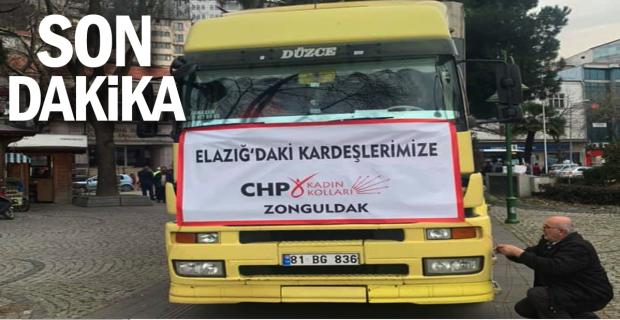 CHP'nin yardım TIR'ı yola cıktı...