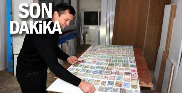 Dedesinden kalan para koleksiyonunu gözü gibi koruyor