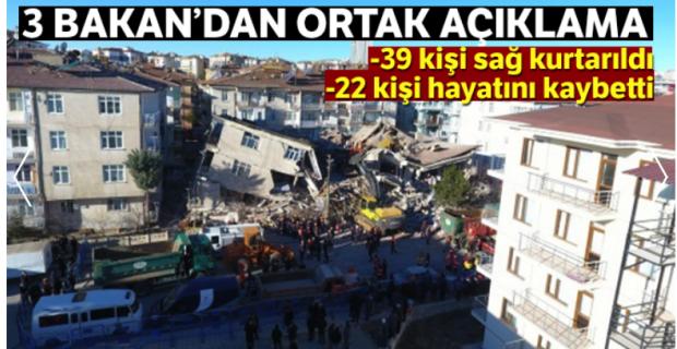 Son Dakika: Bakanlardan ortak Elazığ depremi açıklaması