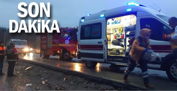 Trafik kazası: İki bayan sürücü ölümden döndü!..