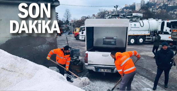 Zonguldak Belediyesi kar mücadelesine hazır