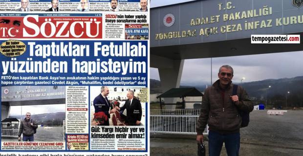 Zonguldaklı Gazeteci Sözcü'ye manşet oldu…