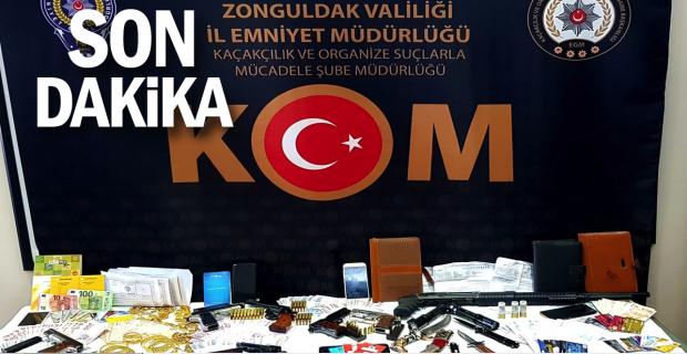 Zonguldak'ta tefeci operasyonu; 10 gözaltı