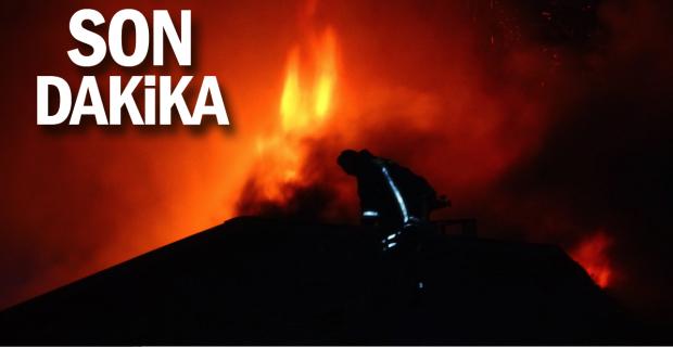 Alan: Yangının nedeni sobadan sıçrayan kıvılcım…