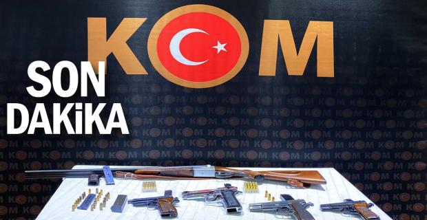 Ruhsatsız silah ticareti yapan 9 şüpheli gözaltında