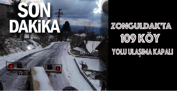 Zonguldak'ta 109 köy yolu ulaşıma kapalı