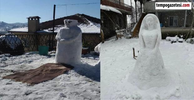 Zonguldak'ta İlginç kar manzaraları… İşte o fotoğraflar...
