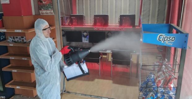 Nano Gümüş teknolojisi ile işyerini dezenfekte etti