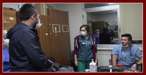 Sağlık çalışanlarına moral için 250 adet pastayı ücretsiz dağıttı