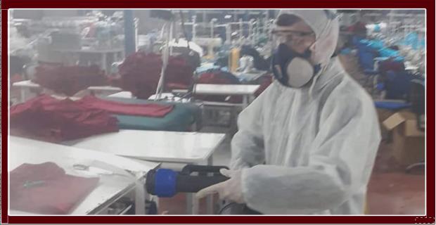 Tekstillerde dezenfekte edildi…
