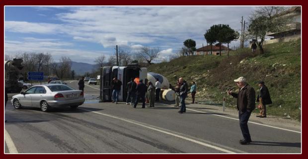 Zonguldak'ta beton mikseri devrildi: 2 kişi yaralı