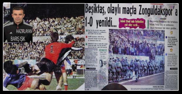 Zonguldakspor, olaylı maçta Beşiktaş'ı 1-0 yendi...