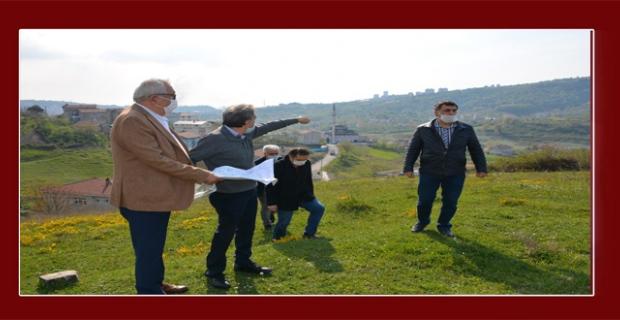 Başkan Posbıyık yeni şehir mezarlığını inceledi