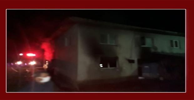 2 Katlı evde yangın çıktı!