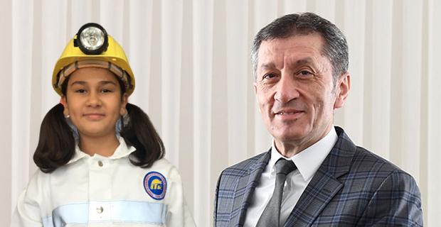 10 yaşındaki Hilal, Bakan Ziya Selçuk'un böyle dikkatini çekti