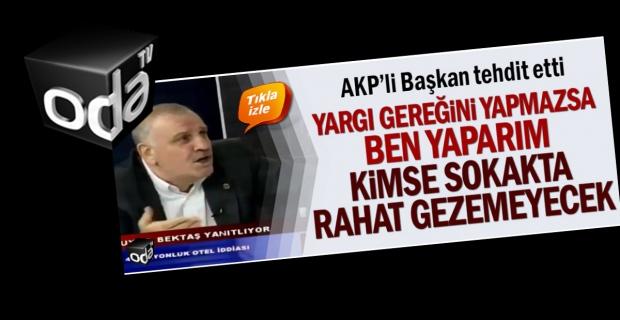 Basını tehdit eden Ali Bektaş, ODA TV'de!