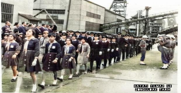 1956-1960 arası...ZONGULDAK LAVUARI Bayram Töreni