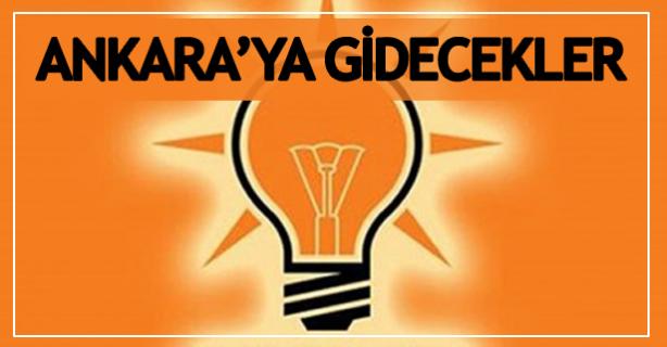 Ankara'ya gidecekler