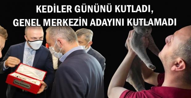 Kedisini kutladı, Partisi'nin adayını KUTLAMADI!