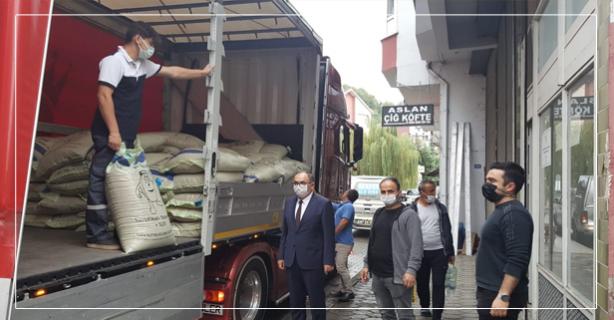 60 Ton buğday dağıtıldı
