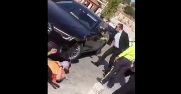 Haberal'ın aracı güvenlik görevlisine çarptı