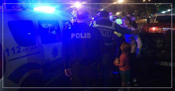 Polise direndiler; Aralarında çocukta vardı