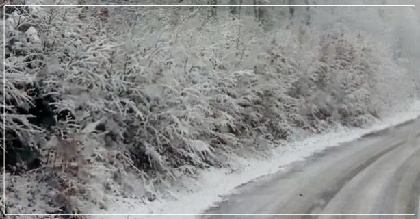 Baraj çevresine yağan kar sevindirdi