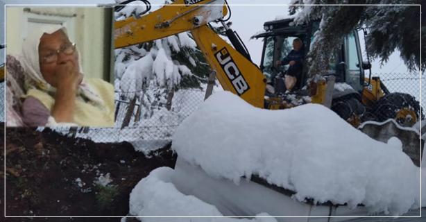 70 CM karda mezar kazdılar