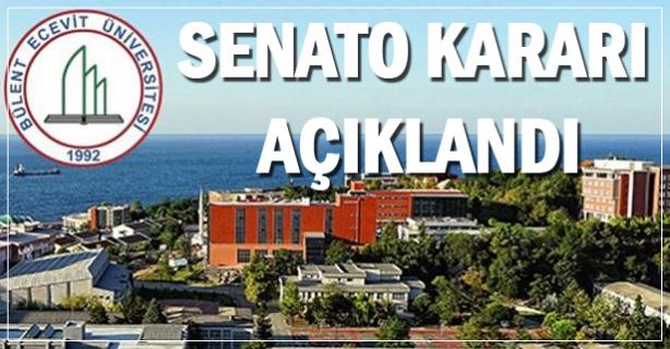 Bahar dönemi senato kararı açıklandı