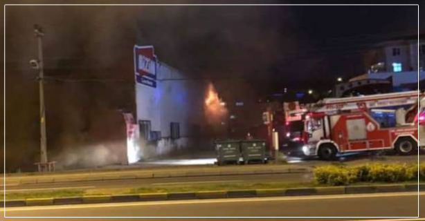 Mağazada çıkan yangın korkuttu