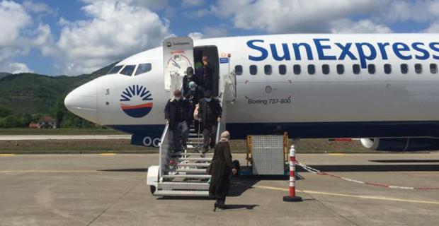 SunExpress, Zonguldak'a iniş yaptı