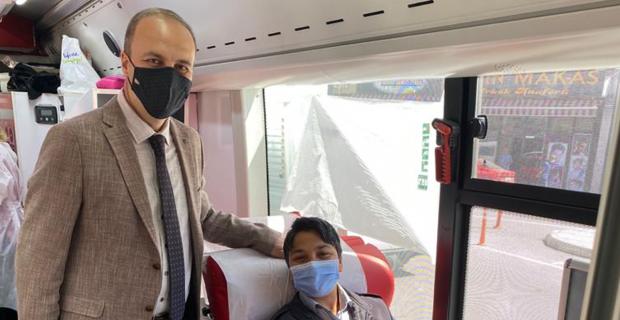 AK Parti Merkez İlçeden kan Bağışına Destek...